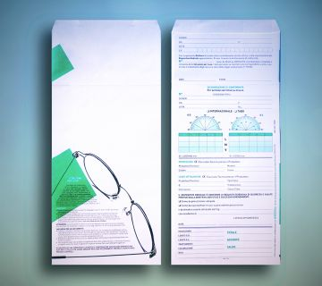 Example of generic envelope for glasses with compliance certificate