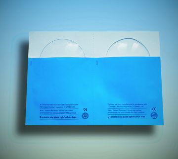 Personalised double envelope for prescription lenses